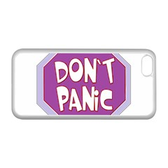 Purple Don t Panic Sign Apple Iphone 5c Seamless Case (white)