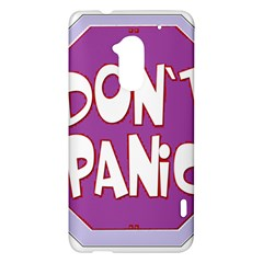 Purple Don t Panic Sign HTC One Max (T6) Hardshell Case