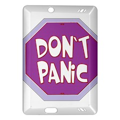 Purple Don t Panic Sign Kindle Fire Hd 7  (2nd Gen) Hardshell Case