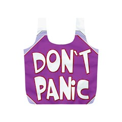 Purple Don t Panic Sign Reusable Bag (s)