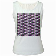 Pattern Women s Tank Top (White)