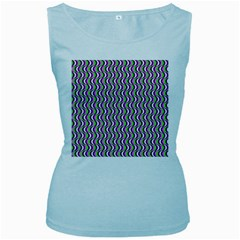 Pattern Women s Tank Top (Baby Blue)