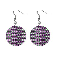 Pattern Mini Button Earrings