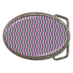 Pattern Belt Buckle (Oval)