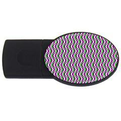 Pattern 4gb Usb Flash Drive (oval)
