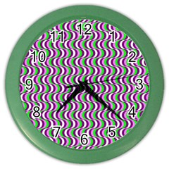 Pattern Wall Clock (color)