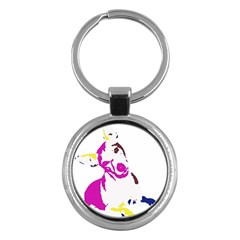 Untitled 3 Colour Key Chain (Round)