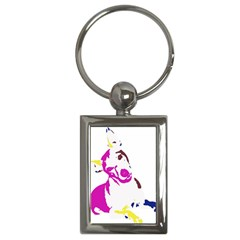 Untitled 3 Colour Key Chain (Rectangle)