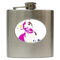 Untitled 3 Colour Hip Flask
