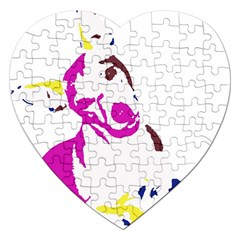 Untitled 3 Colour Jigsaw Puzzle (Heart)