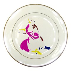 Untitled 3 Colour Porcelain Display Plate