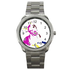 Untitled 3 Colour Sport Metal Watch