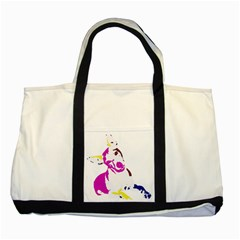 Untitled 3 Colour Two Toned Tote Bag