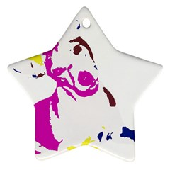 Untitled 3 Colour Star Ornament (two Sides)