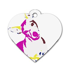 Untitled 3 Colour Dog Tag Heart (Two Sided)