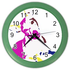 Untitled 3 Colour Wall Clock (color)