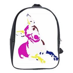 Untitled 3 Colour School Bag (Large)