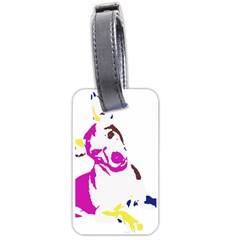 Untitled 3 Colour Luggage Tag (One Side)