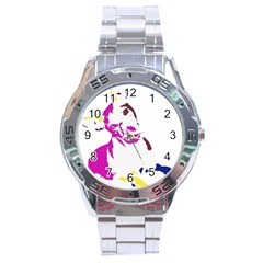 Untitled 3 Colour Stainless Steel Watch