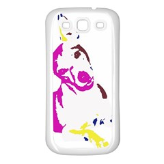Untitled 3 Colour Samsung Galaxy S3 Back Case (white)