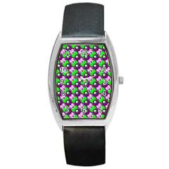 Pattern Tonneau Leather Watch