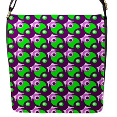 Pattern Flap Closure Messenger Bag (Small)