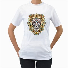 Lion  Women s T Shirt (white)