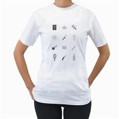 Monster Survival Kit Women s T-Shirt (White)