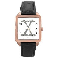 X Rose Gold Leather Watch