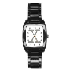 X Men s Stainless Steel Barrel Analog Watch