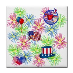 Patriot Fireworks Ceramic Tile