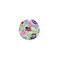 Patriot Fireworks 1  Mini Button Magnet