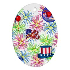 Patriot Fireworks Oval Ornament