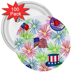 Patriot Fireworks 3  Button (100 Pack)
