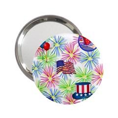 Patriot Fireworks Handbag Mirror (2.25 )