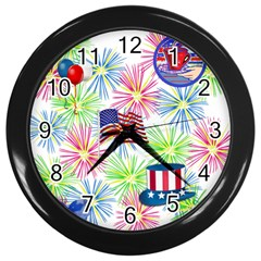 Patriot Fireworks Wall Clock (Black)