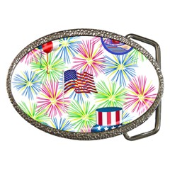Patriot Fireworks Belt Buckle (Oval)