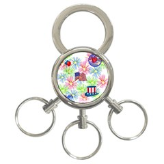 Patriot Fireworks 3 Ring Key Chain