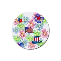 Patriot Fireworks Drink Coaster (round)