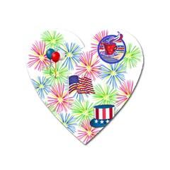 Patriot Fireworks Magnet (Heart)