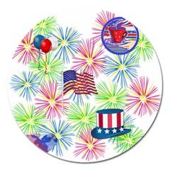 Patriot Fireworks Magnet 5  (Round)