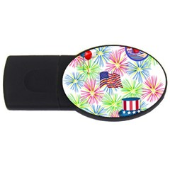 Patriot Fireworks 1GB USB Flash Drive (Oval)