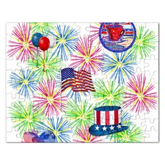 Patriot Fireworks Jigsaw Puzzle (rectangle)