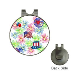 Patriot Fireworks Hat Clip with Golf Ball Marker