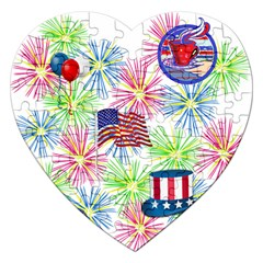 Patriot Fireworks Jigsaw Puzzle (Heart)