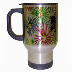 Patriot Fireworks Travel Mug (Silver Gray)