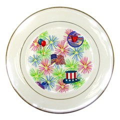 Patriot Fireworks Porcelain Display Plate