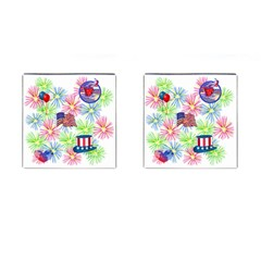 Patriot Fireworks Cufflinks (square)