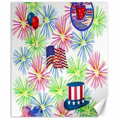 Patriot Fireworks Canvas 8  X 10  (unframed)