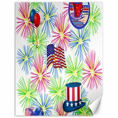 Patriot Fireworks Canvas 12  x 16  (Unframed)